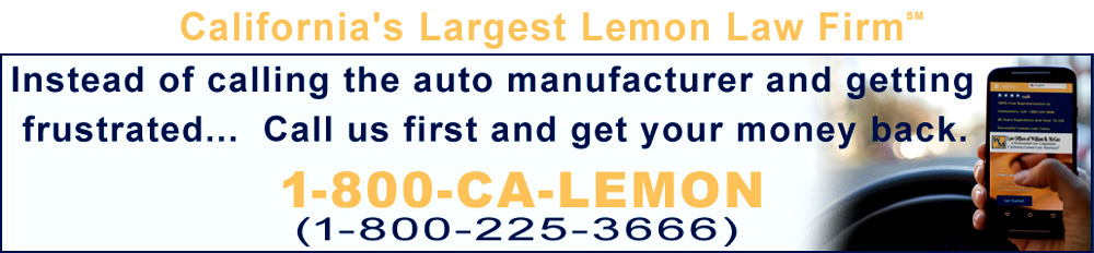 Call the California lemon law attorneys today!